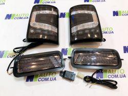 Комплект тонированной LED оптики на Ниву