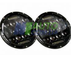 Универсальные светодиодные Led фары 7 дюймов на 75W ДХО Нива / Ваз / Уаз / Ford / Honda}