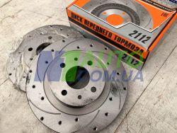 Передние тормозные диски ВАЗ 2112 (sport) «ALNAS»}